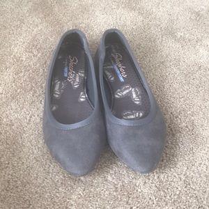 Sketchers memory foam gray/grey ballet flats